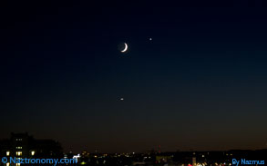 Moon and Venus on September 8, 2013
