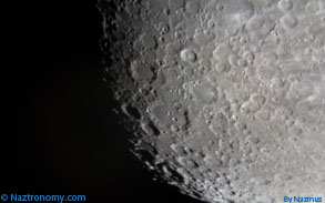 Close up of the moon and Clavius Crater