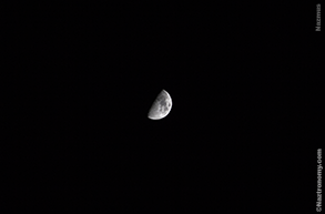 A look at the moon with DSLR
