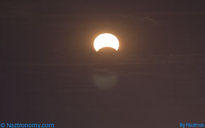 Third shot of the Partial Solar Eclipse from NYC on 11/3/13