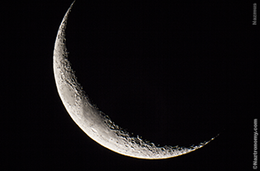 Crescent Moon Zoomed