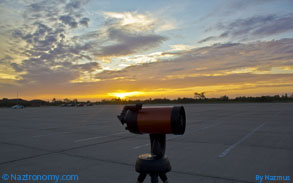 Telescope Against the Setting Sun